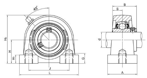 СС Подушка блок-SPA200 / SPW200 / SPG200 / STB200 серии