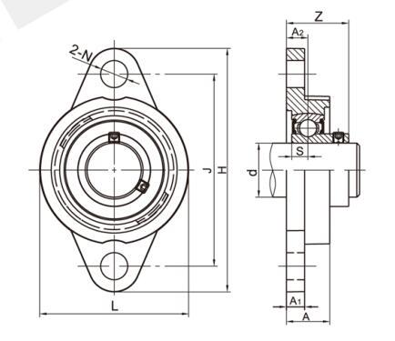 СС Подушка блок-SFL200 серия