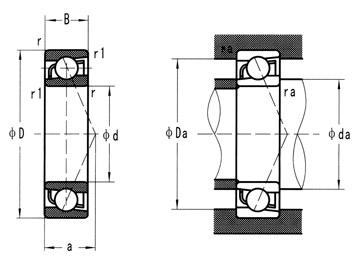 Керамические радиально-упорные шариковые подшипники